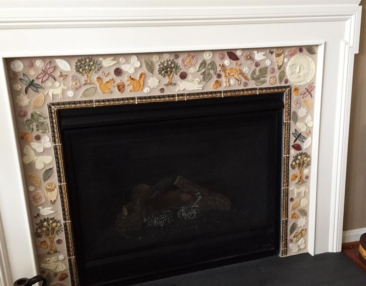 Mosaic Mirrors Art Mosaics Fireplace Fireplaces Fire Places Pits Mantles