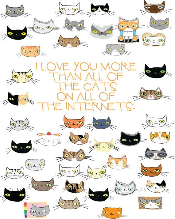 I Love You More Than All the Cats On All the by bishopart on Etsy