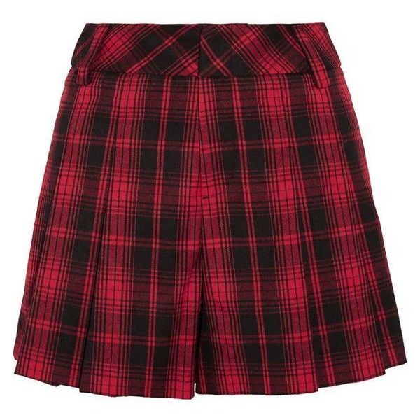 Alice Olivia Tartan flannel shorts ❤ liked on Polyvore featuring shorts, tartan shorts, plaid shorts and flannel shorts