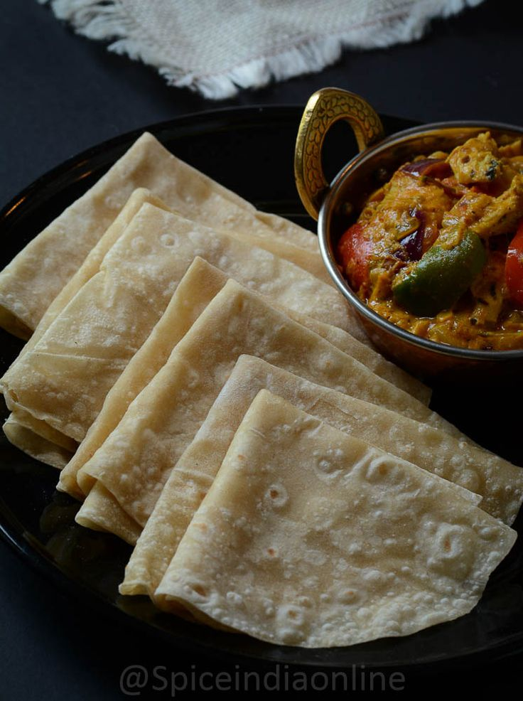 "Rumali roti is a paper thin Mughlai style flat bread which can be folded like a handkerchief, infact the term ""rumali"" refers to handkerchief! Rumali roti is primarily a north indian ..."