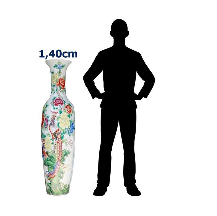 Jarrón Porcelana Pintado a Mano 140 cm (Aprox) / JPPM-140CM – ChileRemates.cl