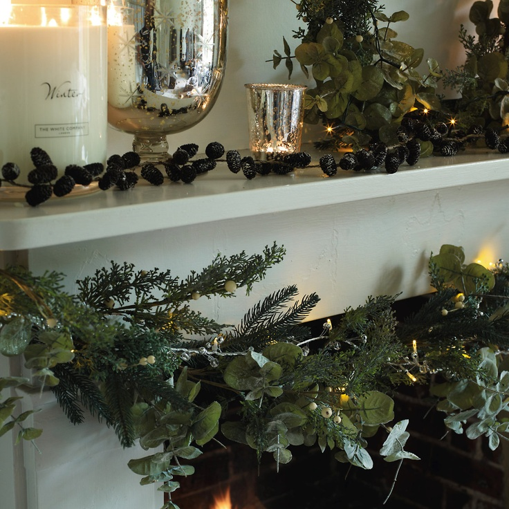 Eucalyptus and White Berry Garland - Christmas Decorations | The White Company