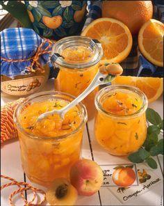 Aprikosen-Orangen-Konfitüre mit Minze