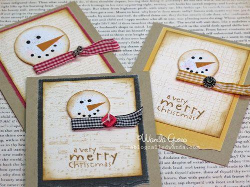 Cute snowman cards