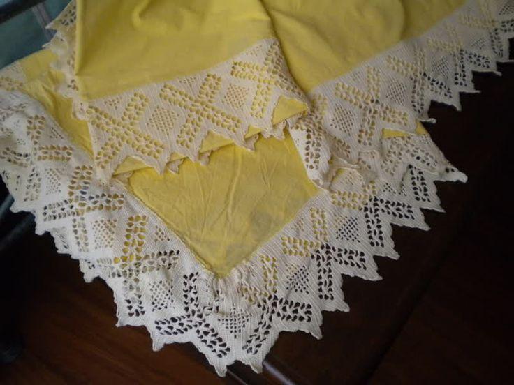 Schemi bordure uncinetto per lenzuola bordura per for Pizzi uncinetto per tovaglie