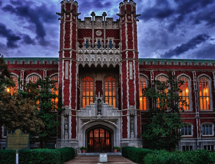 This is where I study. Bizzell Library at The University