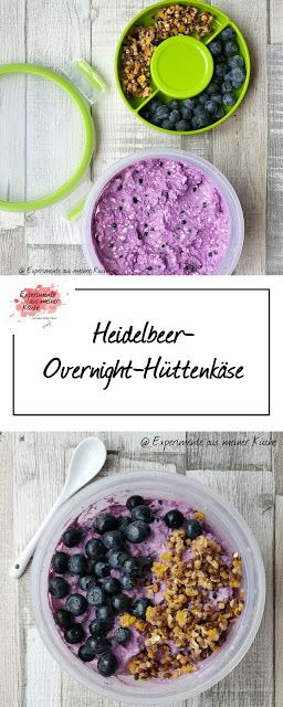 Heidelbeer-Overnight-Hüttenkäse | Rezept | Frühstück | Essen