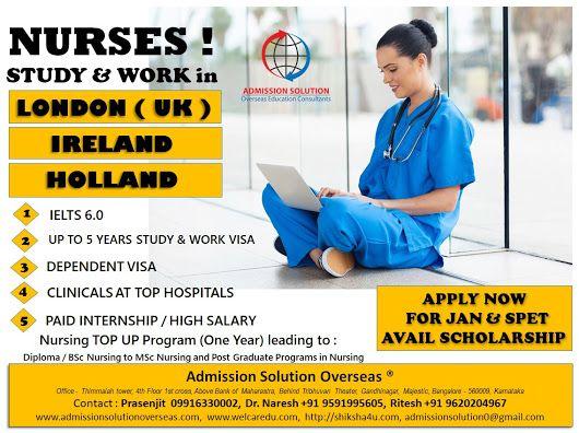 STUDY NURSING IN UK & IRELAND - Shiksha4u- Overseas Education Consultants - Google+