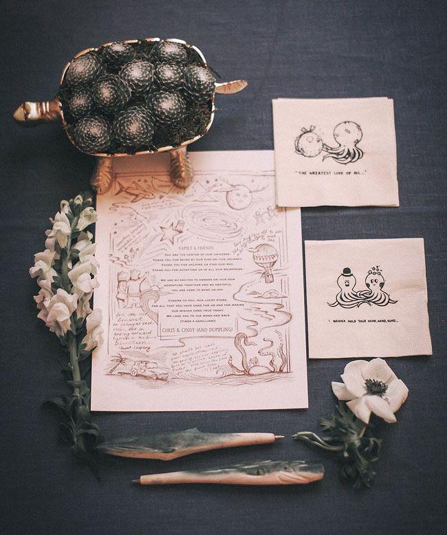 illustrative wedding invitation #gray