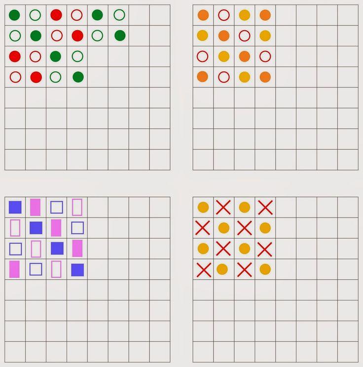 Lernstübchen: Muster zum Weiterzeichnen