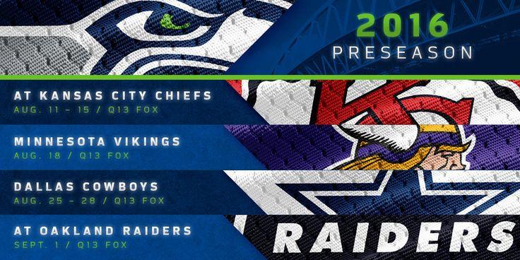 2016 Seahawks Preseason Schedule Announced | Seattle Seahawks