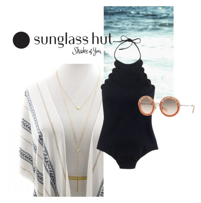 """Shades of You: Sunglass Hut Contest Entry"" by eiram-schultz on Polyvore featuring J.Crew, Miu Miu and shadesofyou"