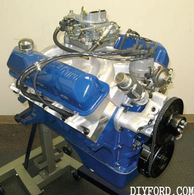 390 fe with a 445 stroker kit ford big block fe engine for Ford stroker motor sizes