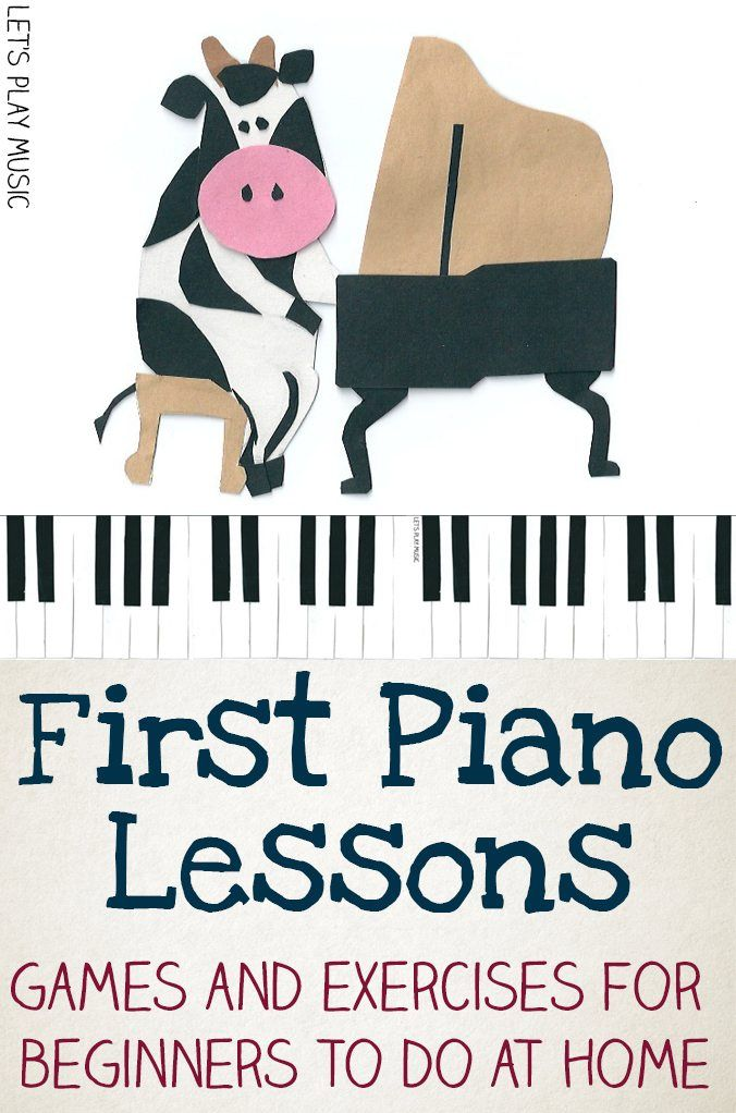 First Piano Lessons Games and Exercises for Beginners to do at home