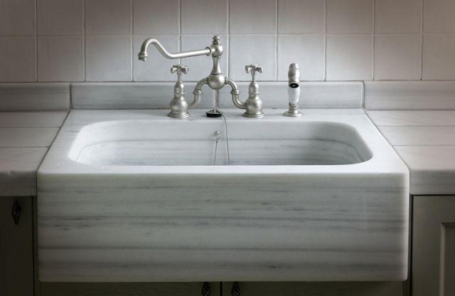 Las 25 mejores ideas sobre fregadero antiguo en pinterest cocina de campo y lavabo de granja - Fregadero marmol ...