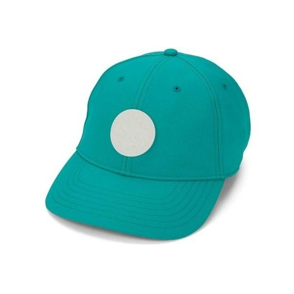 Women's Converse Dry Core Baseball Cap ($25) ❤ liked on Polyvore featuring accessories, hats, green, green baseball hat, sun visor hat, green hat, green baseball cap and logo baseball hats
