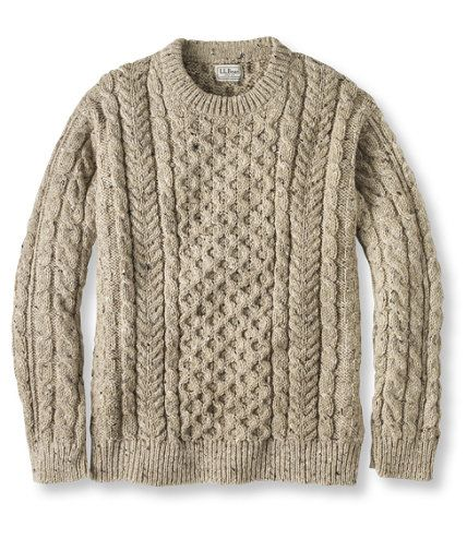 L.L. Bean Fisherman sweater. Oversize and looks so cozy!