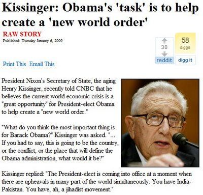 Henry Kissinger : Those Who Reject The New World Order Are Terrorists (Video) | Alternative..My mom did not like this man. Now I know why. He says if we don't stand behind the NWO we are terrorists. BIBLE PROPHECY! One world gov, one world bank...