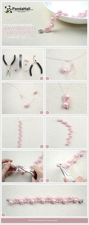 Jewelry Making Tutorial--DIY Wavy Bracelets for Kids