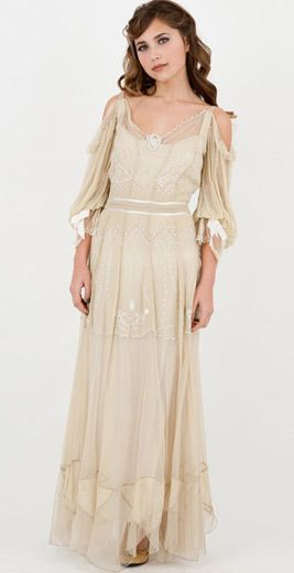 Oooh, this Raphaela Cream Vintage Dress from our sponsor, Wardrobe Shop, has the most rad sleeves. So lacy and romantic! Available up to a size 3X.