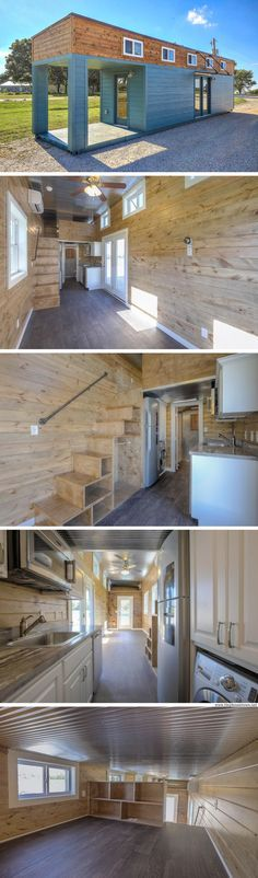 A 312 sq ft shipping container home, currently available for sale in Missouri for $47,900
