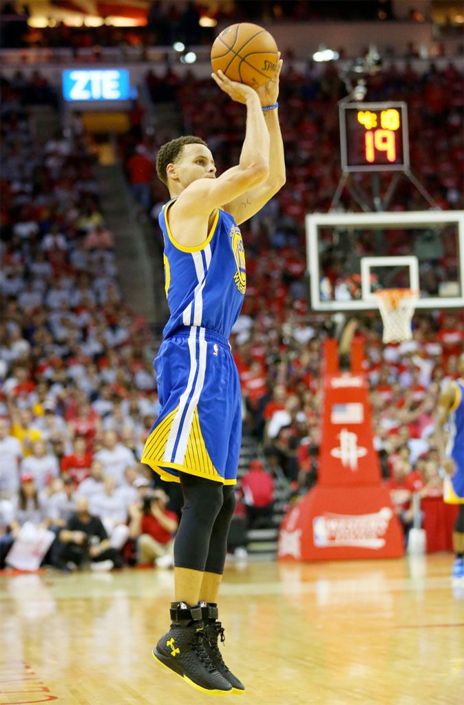 Stephen Curry wears Black/Yellow Under Armour Curry One PE in Game 3 (3)