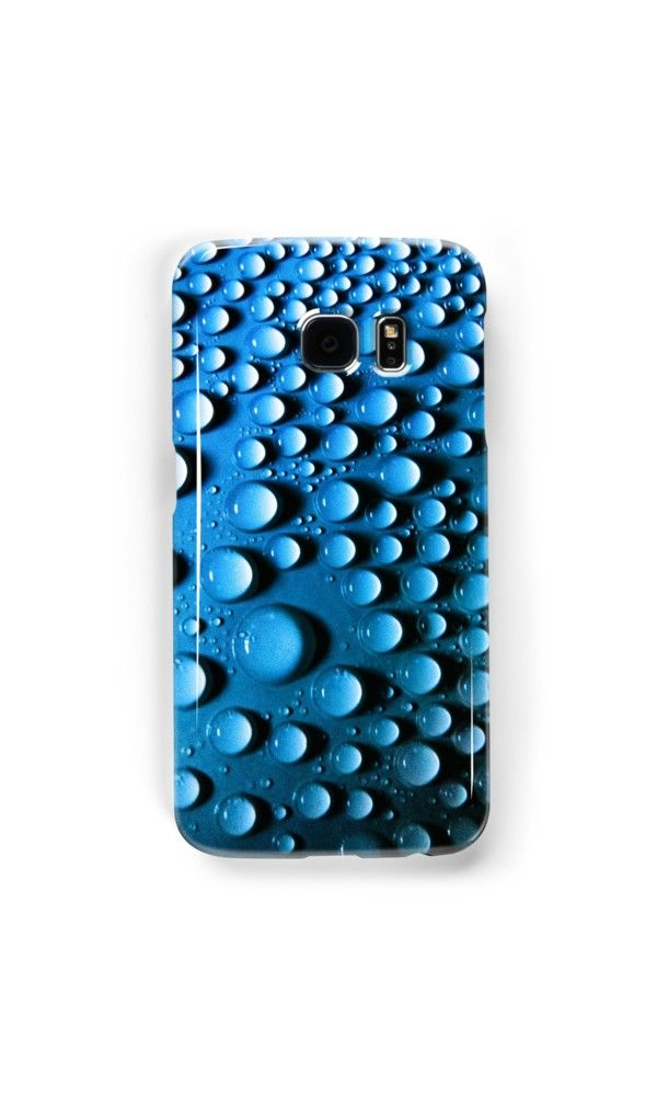 Droplets on a round shape by Silvia Ganora #phonecases #iphonecase #galaxycase #abstract #droplets #redbubble