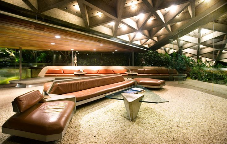 John Lautner. Sheats Goldstein Residence. 1961-3. Beverly Crest. Los Angeles California. (For all you Lewbowski Fans)