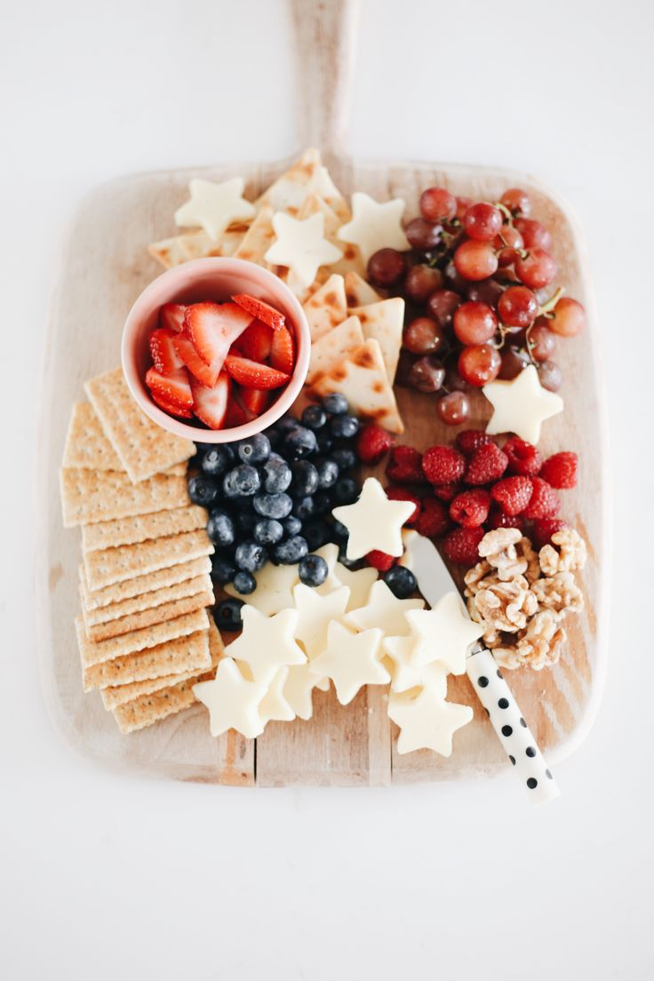 Fourth of July fruit & cheese tray