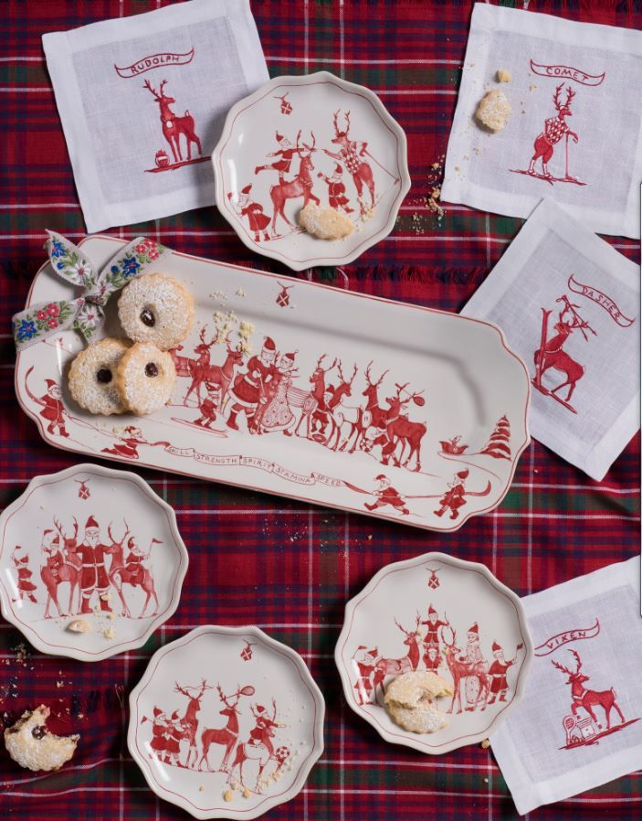 The champions of the season, our reindeer in their sporting best capture the festive spirit of any occasion. These dashing fellows are ideal party guests & future heirlooms to be brought out with joy each holiday season!