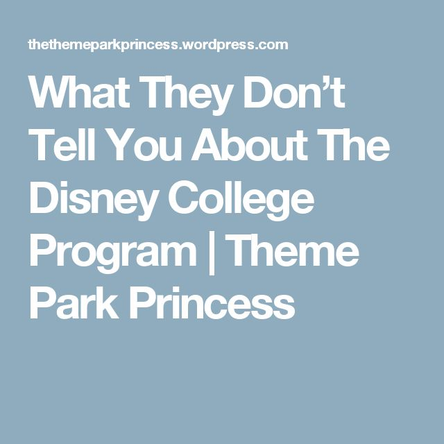 What They Don't Tell You About The Disney College Program | Theme Park Princess