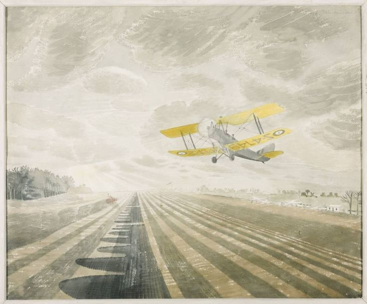 Eric Ravilious (1903‑1942)  Graphite and watercolour on paper 1942