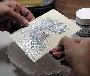 Stencil Paste Embossing Technique Tutorial