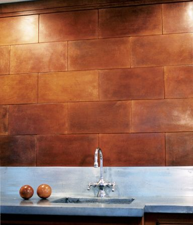 i think these could be cool in the right application - leather wall tiles by ann sacks -