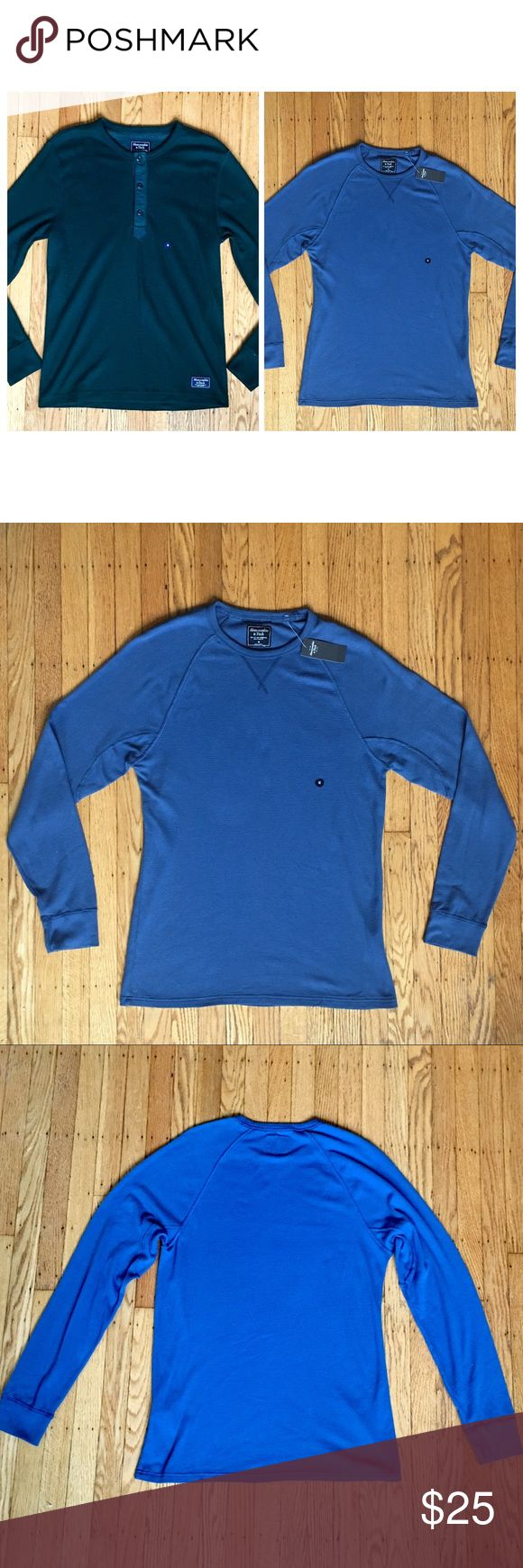 Abercrombie Men's Medium Long Sleeve Henley Bundle Two BNWT Abercrombie Long Sleeve Henleys. Both Waffle Knit Texture. Both Size Medium. Abercrombie Classics New With Tags. Thanks ! Abercrombie & Fitch Shirts Tees - Long Sleeve