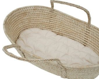Moses Basket Futon with Two 2 fitted sheets 100% Organic