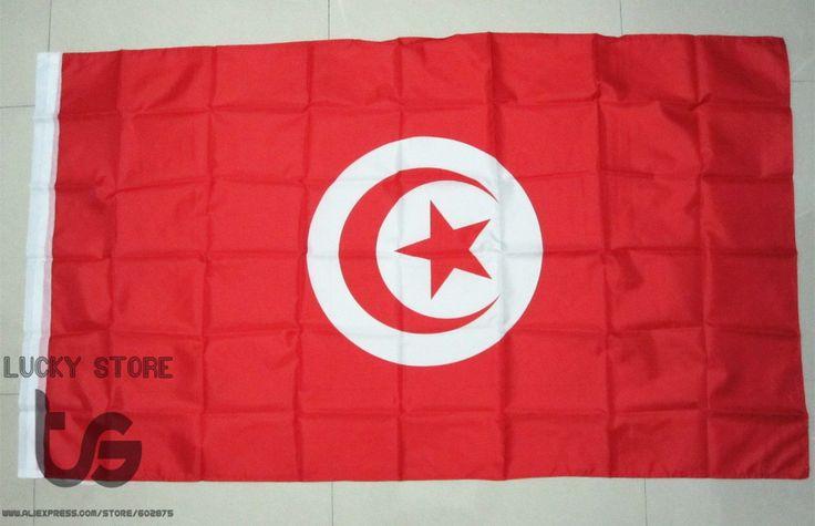 Tunisia flag   Banner  Free shipping  90*150cm Hanging  National flag Tunisia Home Decoration flag banner
