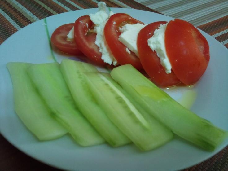 Decomposed Greek salad