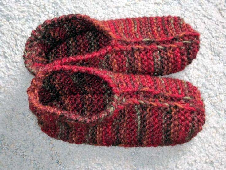 Pinterest Knitting Patterns For Slippers : 17 Best ideas about Knit Slippers Pattern on Pinterest Knitted slippers, Kn...