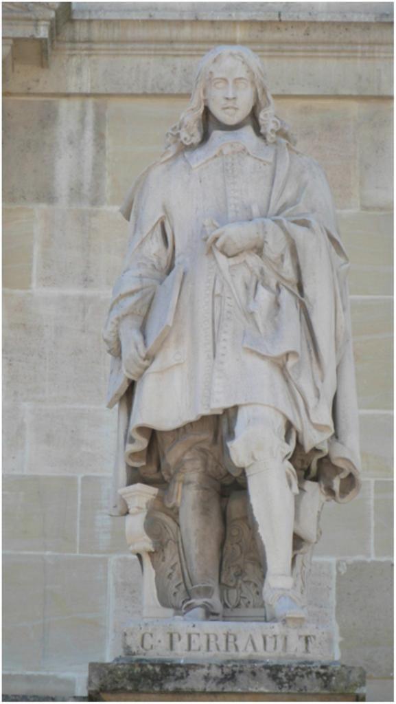 La statue de Claude Perrault (1613-1688) est l'oeuvre d'Auguste Hyacinthe de Bay en 1857. Cour Napoleon du Louvre