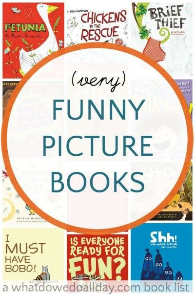 Funny picture books for kids that will make the whole family laugh.