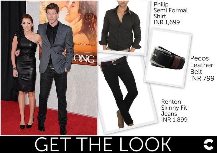 Liam Hemsworth in a polished look!  Shop:  Philip - Semi Formal Shirt (INR 1,699): http://www.freecultr.com/men/men-shirts/dress-shirts/philip-solid-regular-fit-cotton-spandex-shirt.html?top_color=Jet+Black  Pecos - Leather Belt (INR 799): http://www.freecultr.com/men/men-accessories/men-belts/pecos-solid-leather-belt.html?accessories_color=Jet+Black   Renton - Skinny Fit Jeans (INR 1,899)…