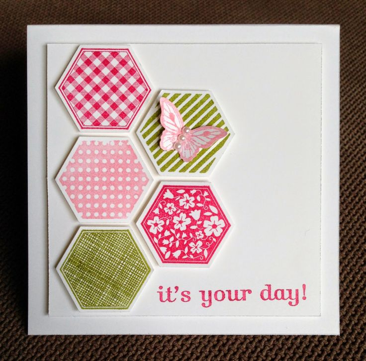 Stampin' Up! Mother's Day card using Six Sided Sampler, Papillion Potpourri and Happiest Brthday Wishes stamp sets.