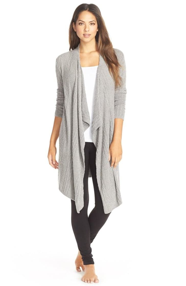 Pin for Later: 40 Alternatives to Pajamas Perfect For Working From Home  Barefoot Dreams Cable Knit Drape Front Cardigan ($134)