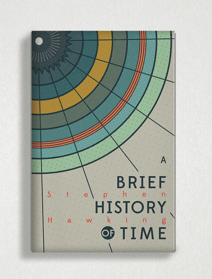 Book cover of A Brief History of Time by Stephen Hawking designed by Tree Abraham. #bookcover #coverdesign