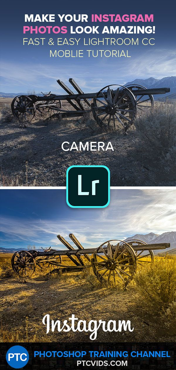 Make your Instagram PHOTOS look AMAZING in Lightroom CC Mobile [FAST & EASY]