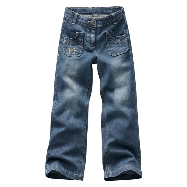 Jeans bootcut corporatura esile, bambina