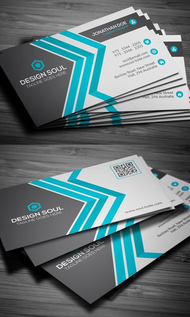 32 best business cards images on pinterest business card design business cards templates 25 new modern business card templates print ready design reheart Choice Image