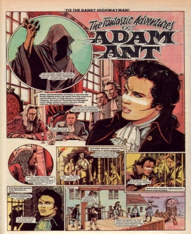 The Fantastic Adventures Of Adam Ant From the short lived TV Tops magazine (approx 1981)