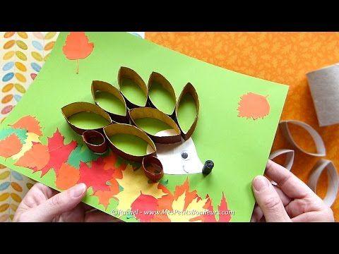 Bricolage automne : hérisson en rouleaux récup' – Tuto vidéo et photos